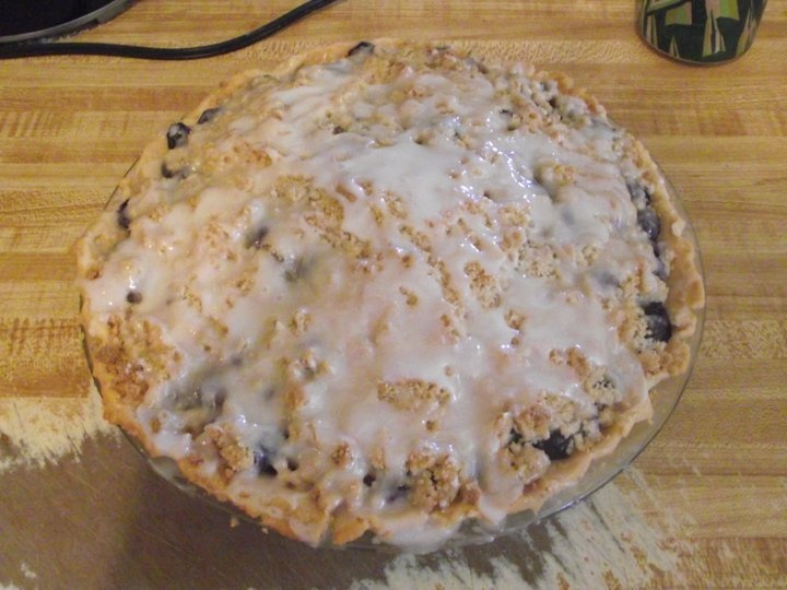 Homemade Blueberry Crumble Pie | Blueberry Delight | Pinterest