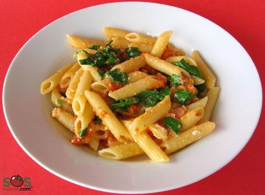 Recipe - Bacon, Lettuce, and Tomato Penne   SOS Cuisine