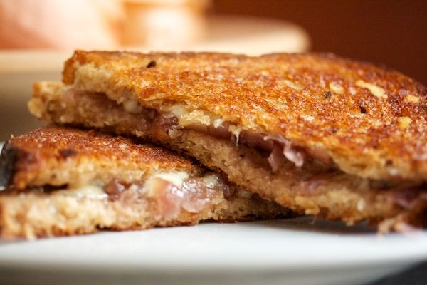 "This ""French Onion Grilled Cheese"" (complete with ""Red Onion J..."
