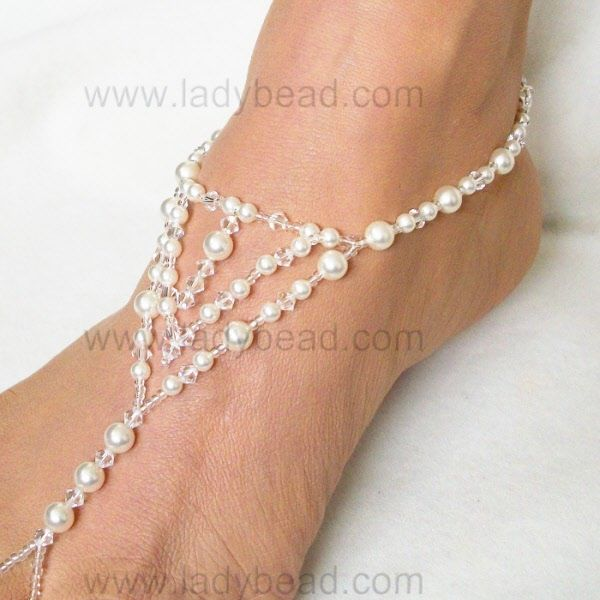sandals ladybead foot jewelry