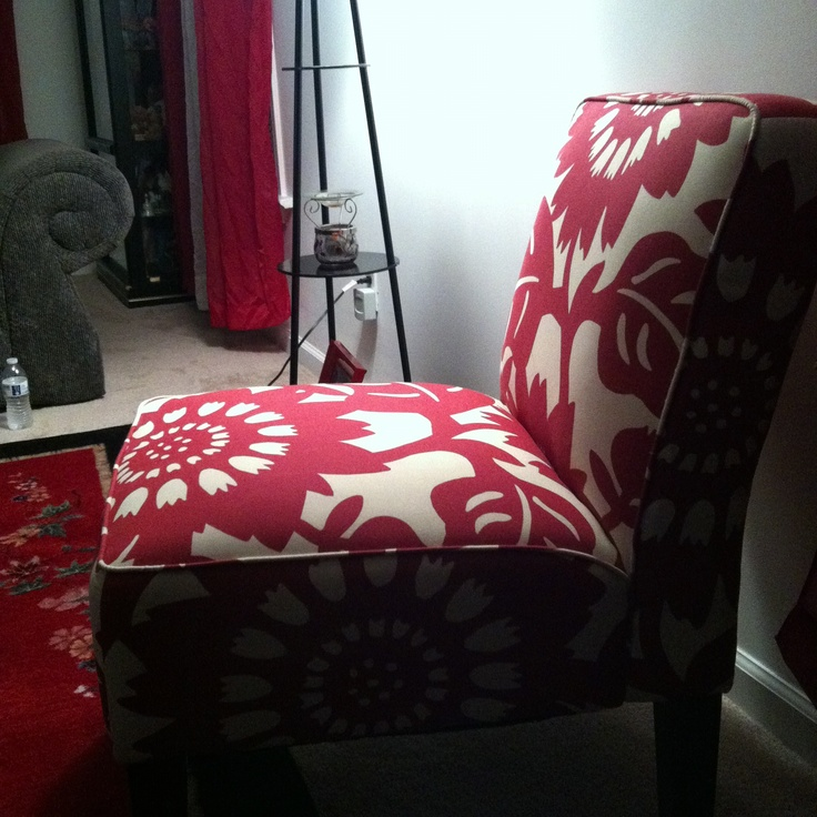 My red accent chair living room pinterest