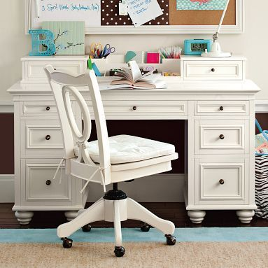 antique white desk pottery barn great decorating ideas pinterest
