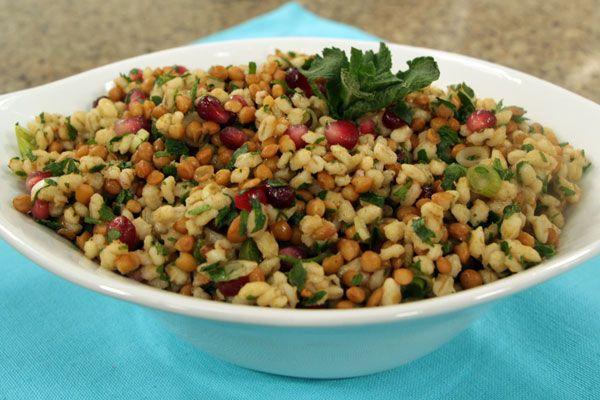 Barley and lentil salad | Cityline. Good vegetarian combination of ...