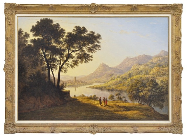 Sunday Fine Art Auction June 2012  Lot No. 29    JOHN GLOVER (1767-1849) Castel Mont Juvat, in the Val D'Aoste, Italy circa 1820 oil on canvas     [1] Hansen, D., John Glover and the Colonial Picturesque, Hobart, TMAG, 2003, p.44    Estimate $60,000-$80,000  #art  #fineart  #auction