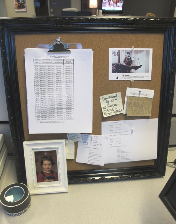 Pin by jenna moran on the cubical life pinterest Cubicle bulletin board ideas