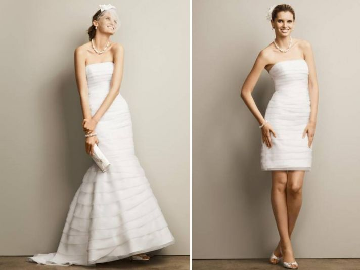 Clever idea - a convertible wedding dress. Ideal if you are a bit to hot on your wedding day!