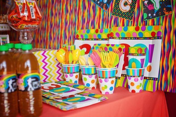 Puntos y color para una fiesta 30 cumpleaños / Spots and colour for a 30th birthday party