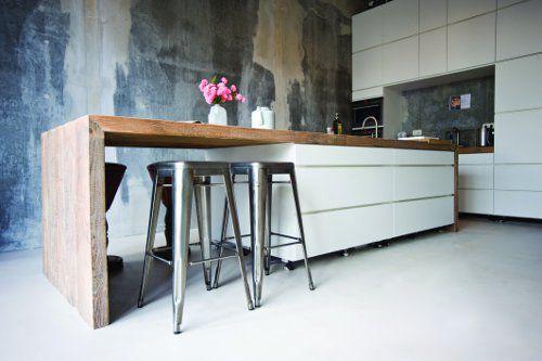 Keuken Wit Hout : Keuken wit/hout Kitchen Pinterest