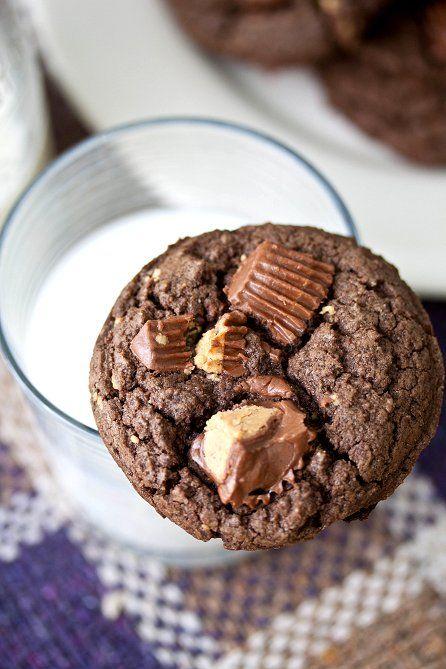 Chocolate Peanut Butter Cup Cookies | Cookie Jar | Pinterest