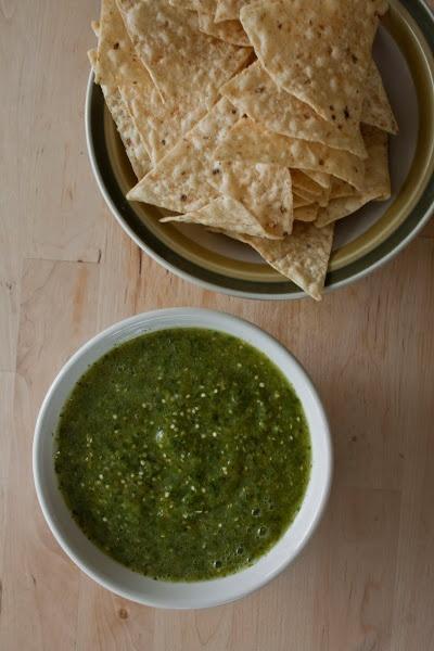 Roasted Tomatillo Salsa Verde Recipe — Dishmaps