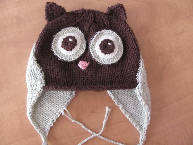 Knit Owl Hat Free Pattern : knit owl hat Hand Knit Pinterest