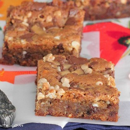 Loaded Malted Chocolate Chip Cookie Bars | Bars and Brownie Recipes ...