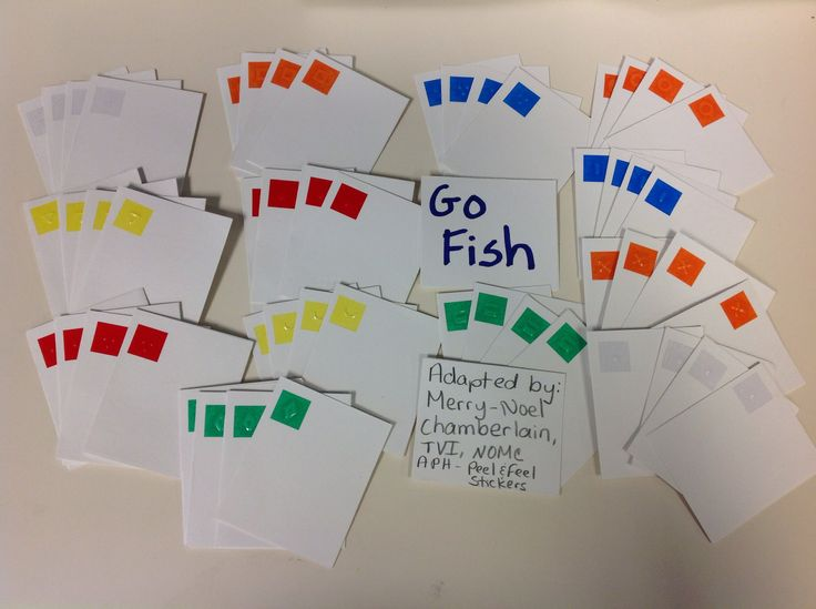 Pin by merry noel chamberlain on toys games for blind or for The rules of go fish