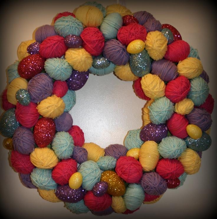 Easter egg wreath   trade show   Pinterest