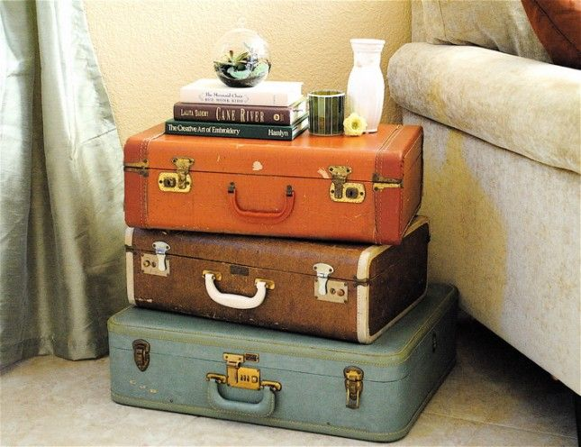 nightstand from recycled suitcase  Recycle with Style  Pinterest