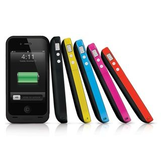 We love the Mophie Juice Pack Plus. Keep your iPhone 4 powered up--the colorful case conceals a small battery. No more scrambling to borrow someone's charger!