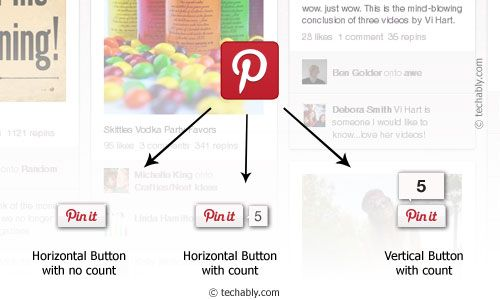 Add Pinterest Button to Website or blog: WordPress, Blogger, Tumblr, Posterous and more.