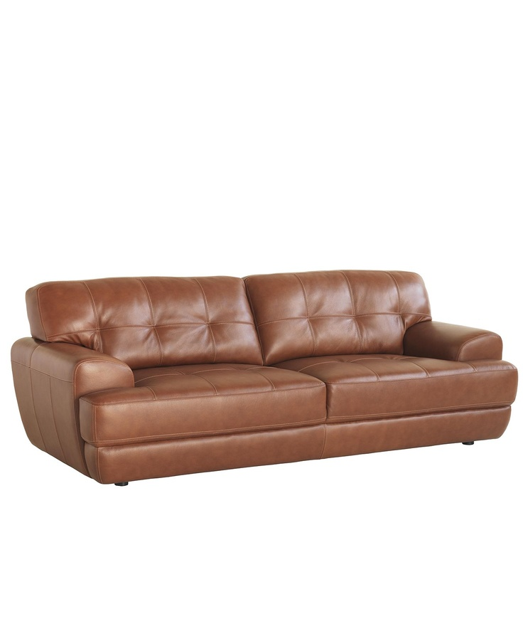 Luca leather sofa furniture macy39s architecture home for Macy s orange sectional sofa