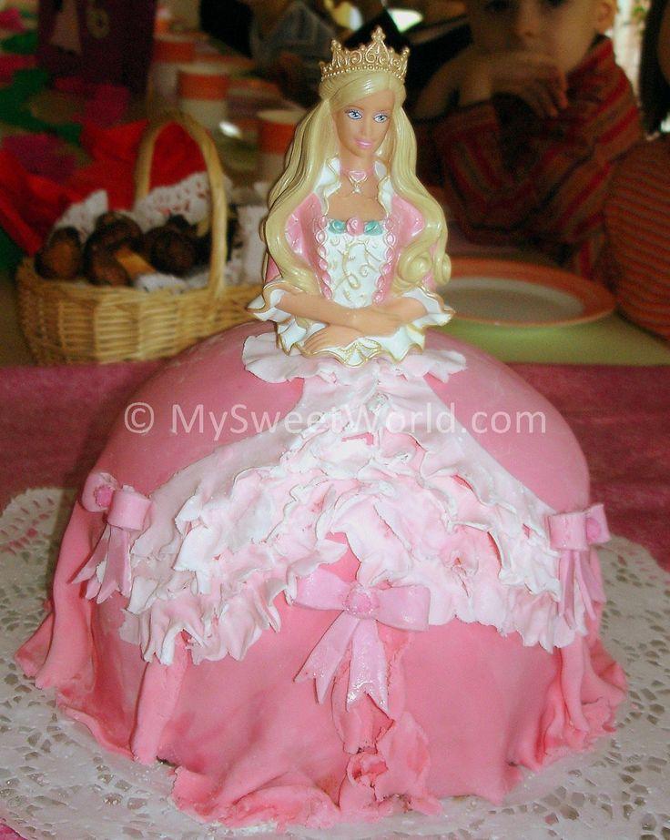 Bolo Barbie  Comidinhas e Sobremesas  Pinterest