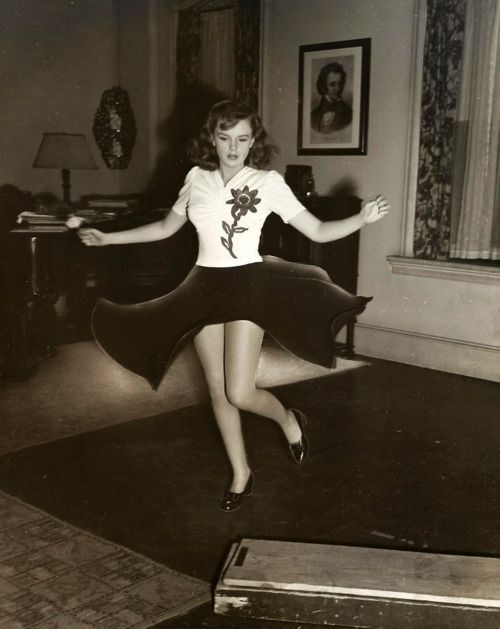 """Judy Garland rehearsing the """"How About You"""" dance number for """"Babes on Broadway"""" (1941)"""