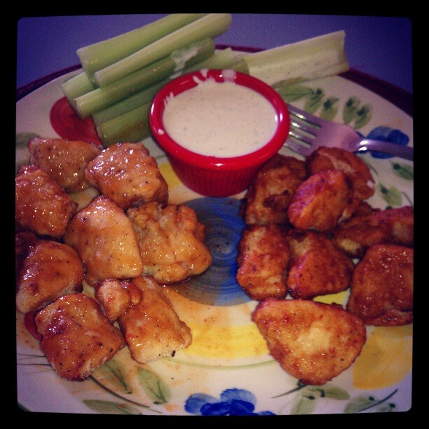"""consistency) -Slice chicken breast into 1"""" nuggets. -Dip raw chicken ..."""