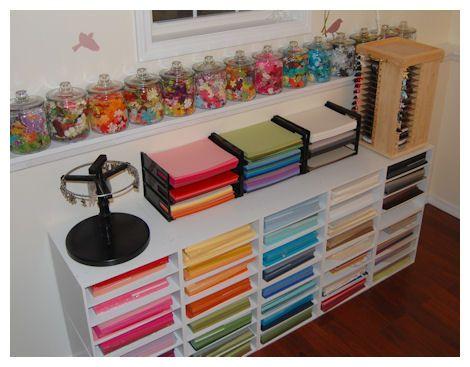 Paper storage craft room storage ideas pinterest for Craft room paper storage