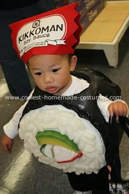 Homemade california roll sushi boy costume when thinking of what to
