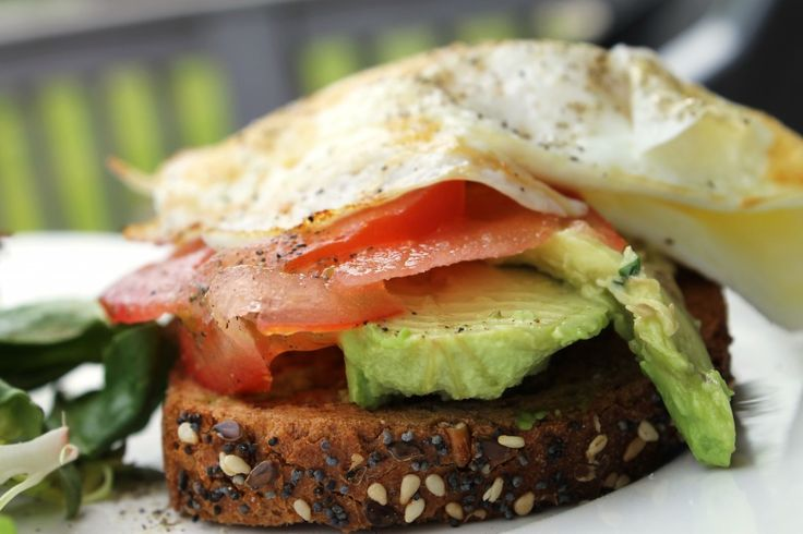 Open Faced Egg & Avocado Sandwich | Fitnessismylife. | Pinterest