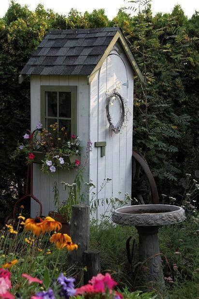 Cute little garden shed garden pinterest for Shed small garden