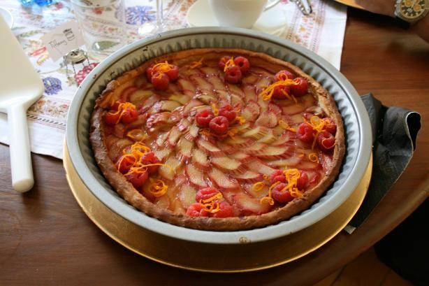 Rhubarb Tart With Orange Glaze | Bon Appetit | Pinterest