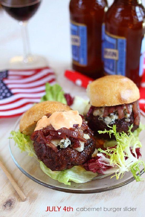 Cabernet and Gorgonzola Burger Sliders | Recipe