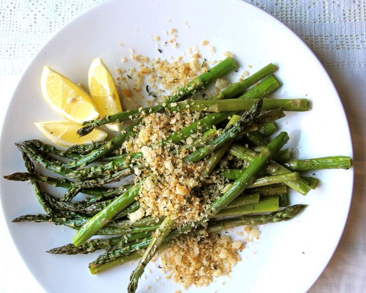 Roasted Asparagus with Parmigiano and Thyme Crumbs | Recipe