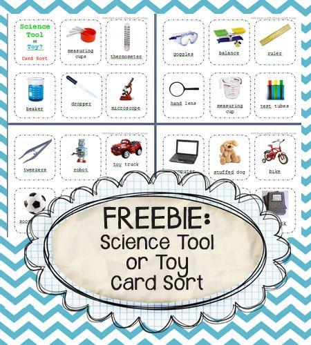 Science tool or toy quot card sort free from kindergarten kindergarten