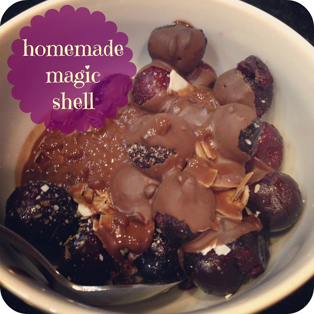 Homemade magic shell with simple ingredients! The main ingredient in ...