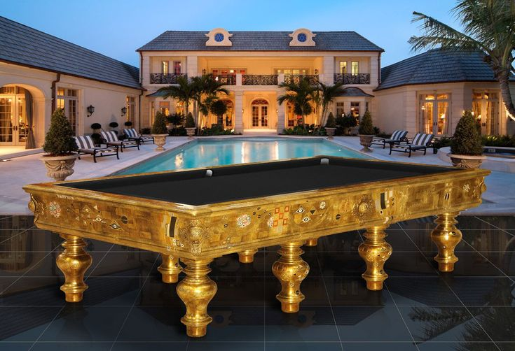 The most expensive klimt the pool table worlds most for Expensive pool tables