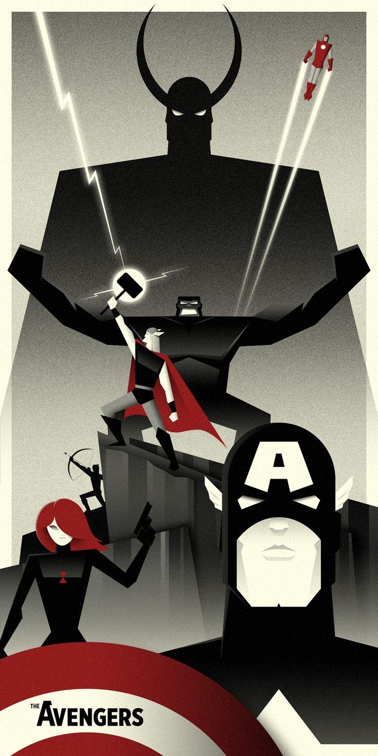 The Avengers by Bruce Yan #illustration #shading #comic #movie #superhero