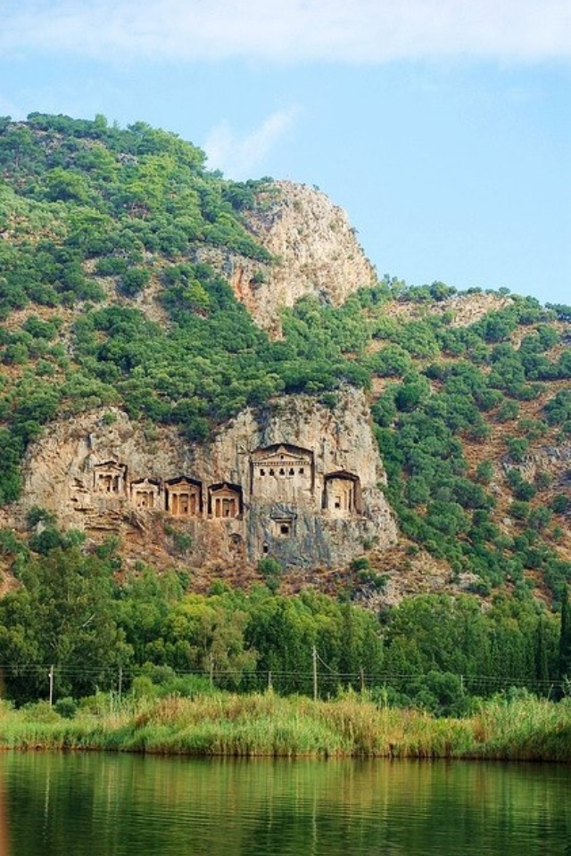 Dalyan Turkey  City new picture : Kaunos rock tombs, Dalyan, Turkey | Turkey | Pinterest