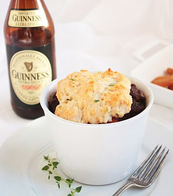 looks yummy for the hubby..beef in stout with cheddar thyme dumplings