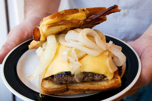 The Bacon Hamburger Fatty Melt, a Bacon Burger with Two Bacon-Stuffed ...