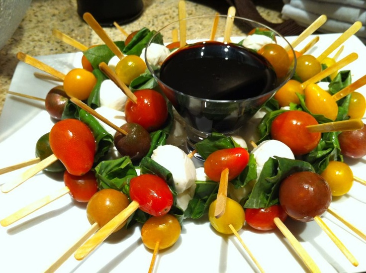 Caprese Skewers | Cold Appetizers | Pinterest