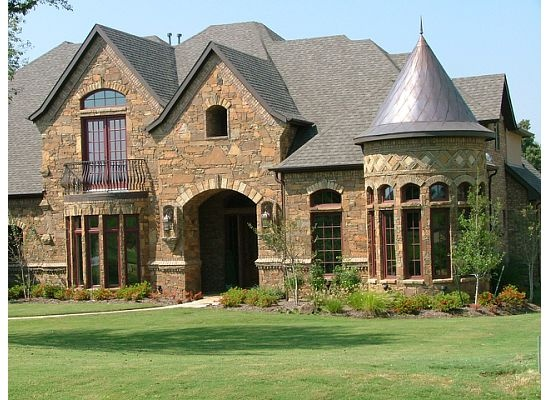 Stone and brick work residential home elevations pinterest for Brick and stone elevations