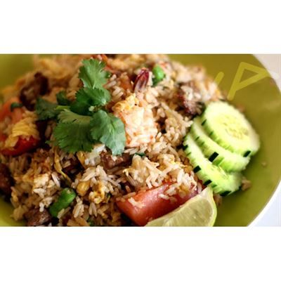 House Special Fried Rice:A combination of chicken, beef and shrimp ...