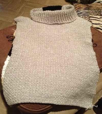 Sleeveless Sweater - Free Knitting Pattern: