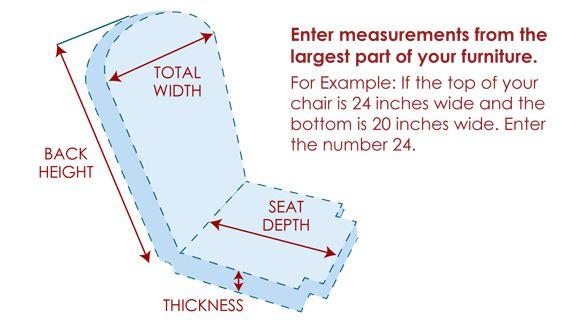 Custom Chair Seat & Back Cushion Set - Standard Unique Shape: pinterest.com/pin/435864070157739819
