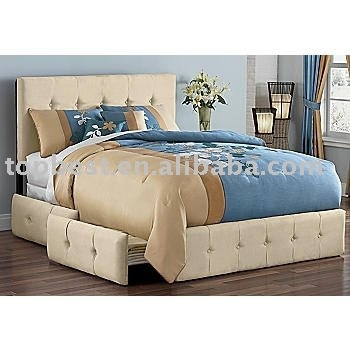 Upholstered bed with storage drawers home is where the for Upholstered bed with drawers