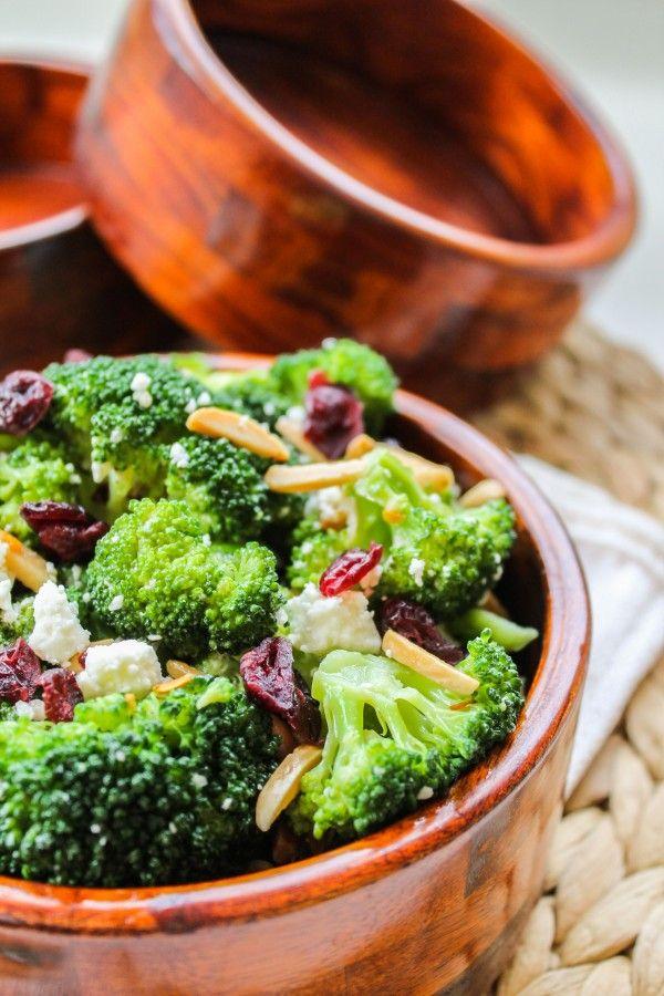 Broccoli with Feta and Fried Almonds | TheFoodCharlatan.com