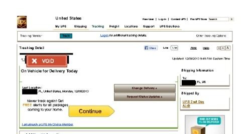 ups tracking number not working iphone 5