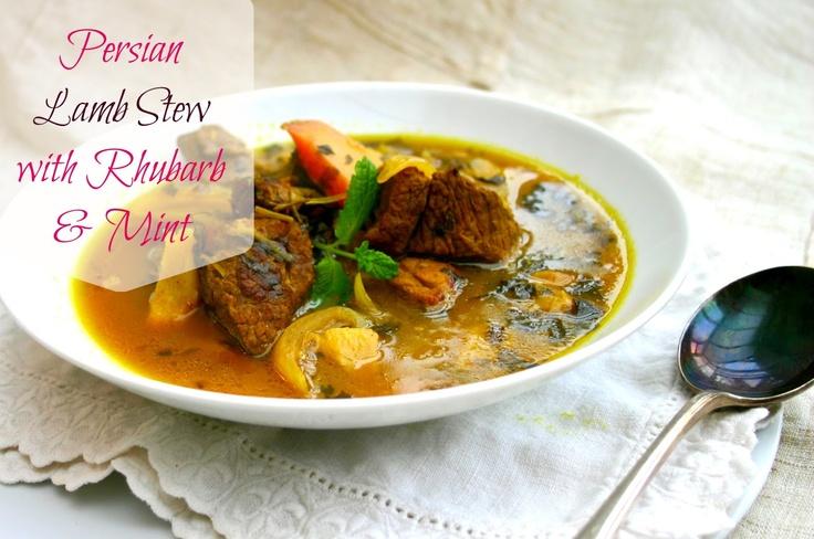 Persian Lamb Stew with Rhubarb & Mint | Dinner Tonight Recipes | Pint ...