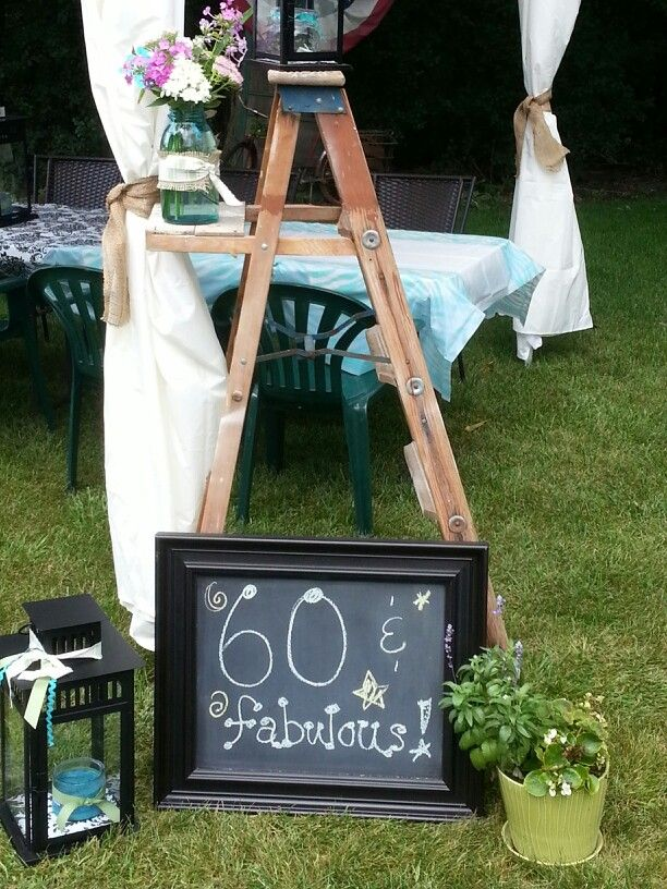 60th birthday decor party pinterest for Decoration 60th birthday party