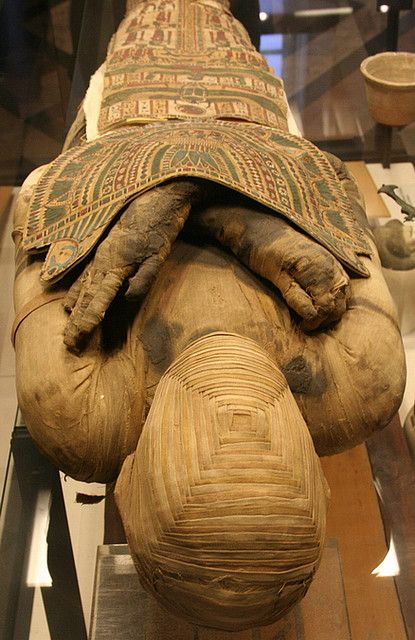 Egyptian mummy from the Louvres museum.